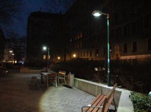 LED Strassenbeleuchtung am Kühnplatz in Wien