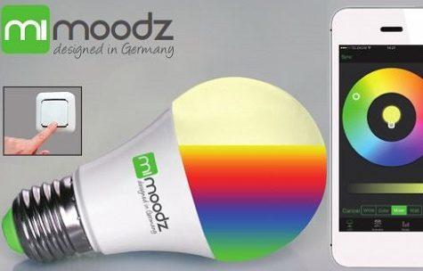 Die smarte LED Lampe mit App-Steuerung von Mimoodz